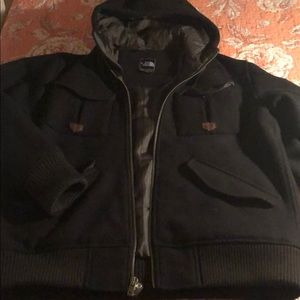 Men's North Face Wool Bomber Coat Size XL